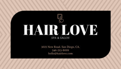 Business Card Template for Hair Stylists 67c