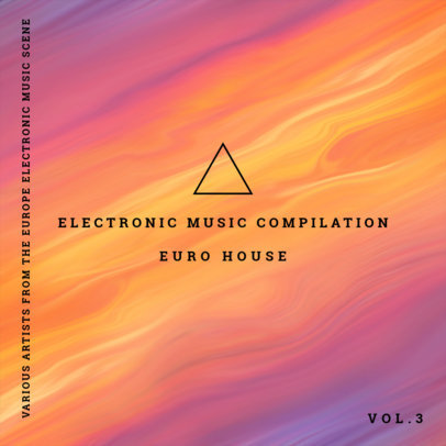 Album Cover Maker for Electronic Music with Planet 109d