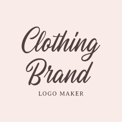 Handwritten Logo Maker for Clothing Brand 1077a