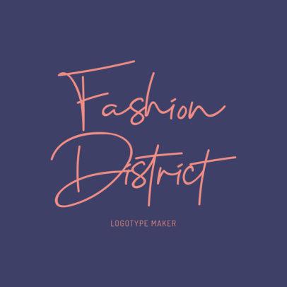Elegant Script Logo Maker for a Fashion Clothing Brand 1077e