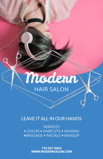 Online Flyer Maker for Modern Hair Salons 88d