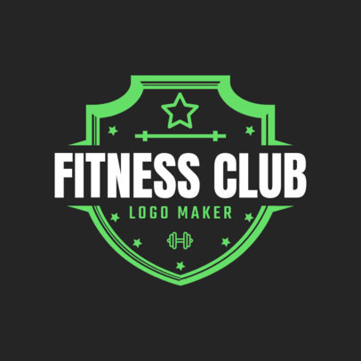 Fitness Logo Maker with Shields 1086c