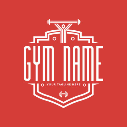 Gym Logo Maker with Shields 1086d