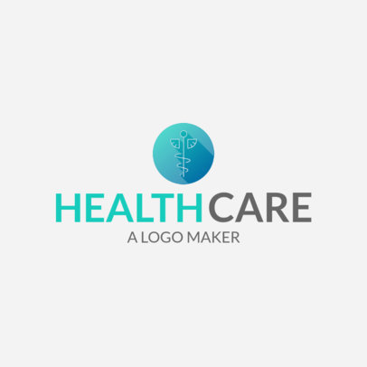 Health Care Logo Maker with Caduceus Icon 1049b
