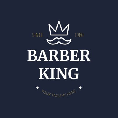 Barber Shop Logo Maker with Crown Icon 1123d