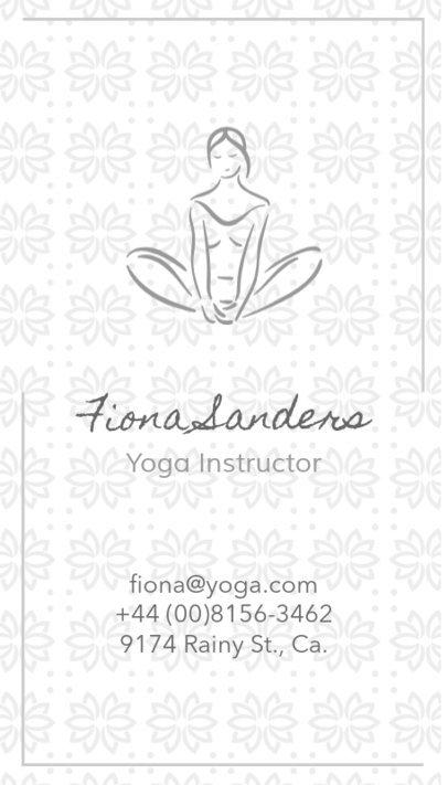 Business Card Maker for a Yoga Studio 105a