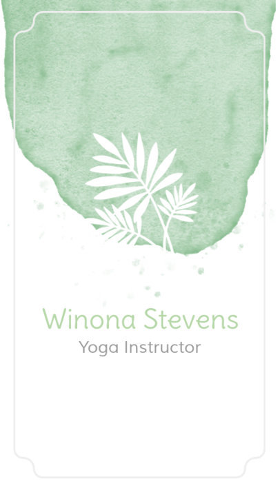 Yoga Business Card Maker with Watercolor Background 105d