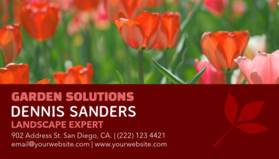 Business Card Maker for Landscapers 97d