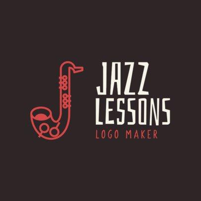 Jazz Lessons Logo Maker 1136a