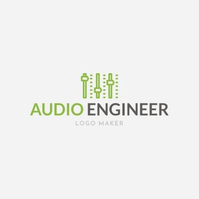 Audio Engineer Logo Maker 1136b