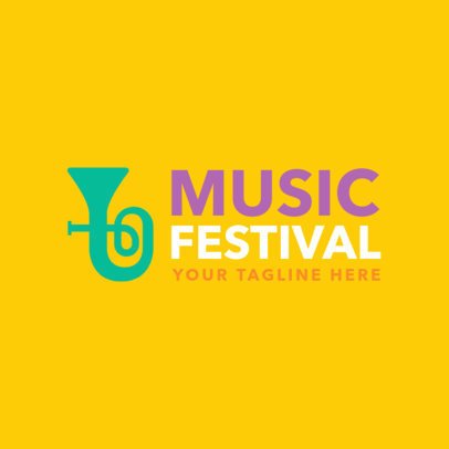 Music Festival Logo Maker 1136e