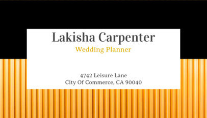 Business Card Maker for Event Planners with Linear Pattern 93b