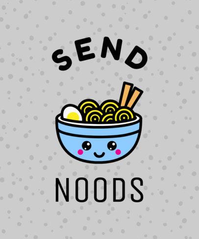 Kawaii Ramen T-Shirt Design Template 37c noodle joke