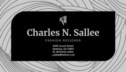 Business Card Maker for Fashion Designers 138a