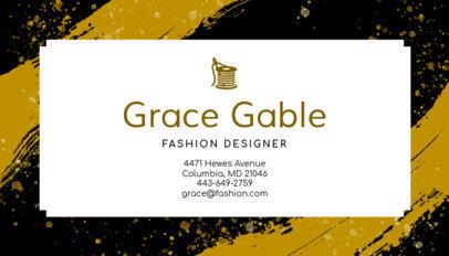 Business Card Maker for High Fashion Designers 138e