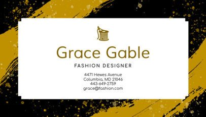 Business Card Maker for High Fashion Designers 138e
