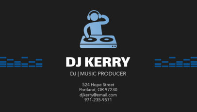 Music Producer Business Card Maker with DJ Clipart 130a