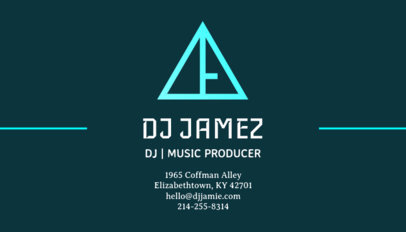 Online Business Card Template for a Music Producer 130d