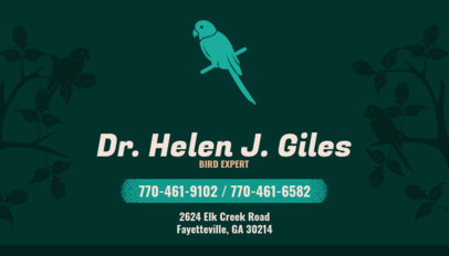 Business Card Maker for Avian Vets 144c