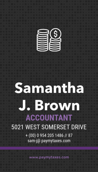 Vertical Business Card Maker for Accountants a332