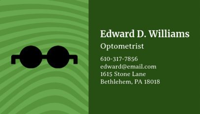 Business Card Template for Oculists 145c