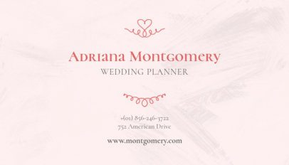 Business Card Maker for Wedding Planners 132b