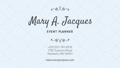 Business Card Maker for Wedding Planners with Minimal Layout 132d