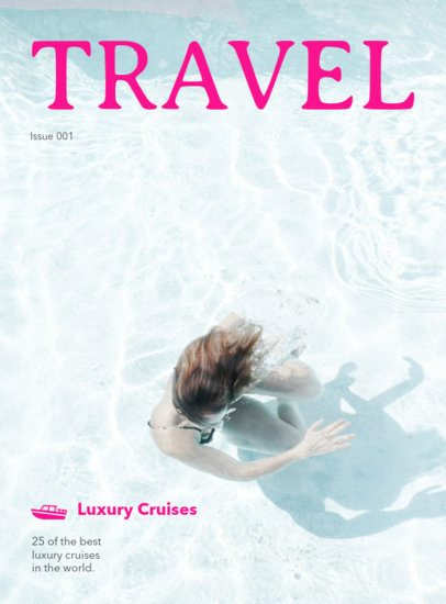 Luxury Travel Magazine Cover Maker 48a