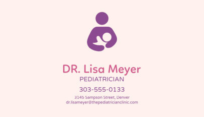 Business Card Maker for Pediatricians 74b