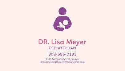 Business Card Maker for Pediatricians 74b