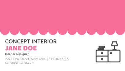 Business Card Maker for Interior Decorators 84e