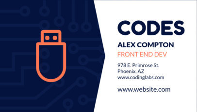 Front End Developer Business Card Template 75e