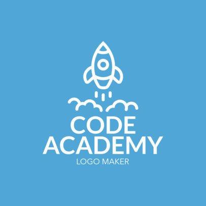 Start Up Logo Maker with Rocket Graphics 1144b