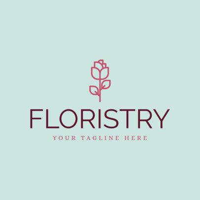 Floral Logo Maker for Florists Stores 1166a