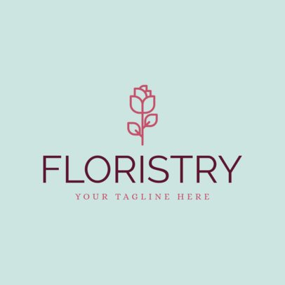 Floral Logo Maker for Florists Stores 1166a