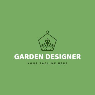 Landscaping Logo Maker with Garden Images 1166b