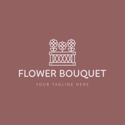 Flower Store Logo Maker with Flower Icons 1166d