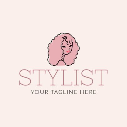 Logo Maker for a Hair Stylist with Minimalist Design 1162c