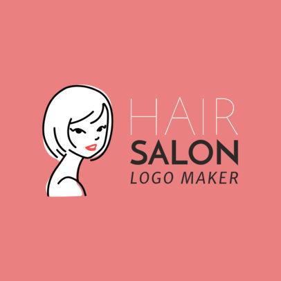 Hair Salon Logo Maker with Line Art 1162d