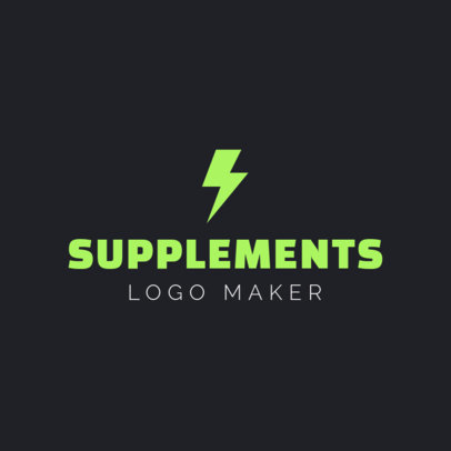 Custom Logo Maker for Supplement Stores 1180d
