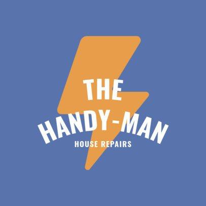 Handyman Logo Maker with Lightning Bolt Clipart 1156b