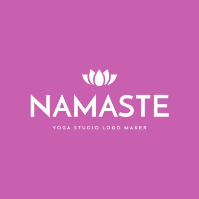 Yoga Logo Maker for Wellness Studio 1169c