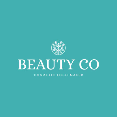 Natural Cosmetic Logo Maker with Nature Icons 1169d