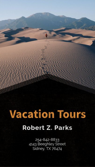 Business Card Template for Vacation Planners 160e