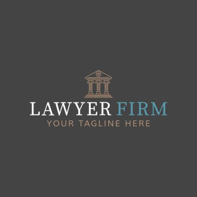 Online Logo Maker with Law Icons 1194b