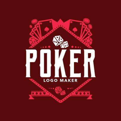 Poker Online Site Logo Maker with Casino Images 1158e