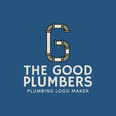 Plumber Logo Maker with Pipe Uppercase Fonts 1239f