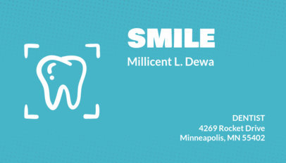 Dental Business Card with Tooth Graphic 70c