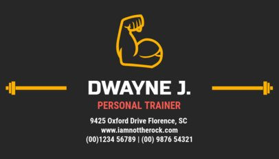 Personal Training Business Card Maker a334