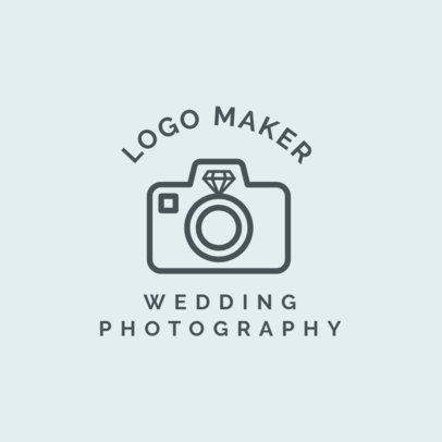 Wedding Photographer Logo Maker with Wedding Icons 1243d